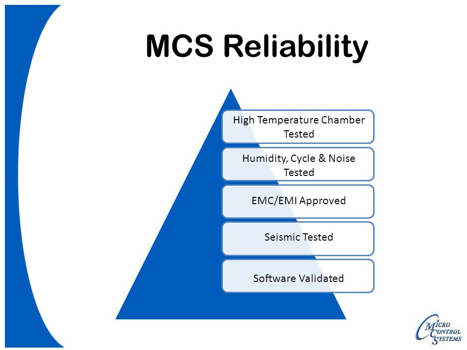 MCS Reliability High Temperature Chamber Tested