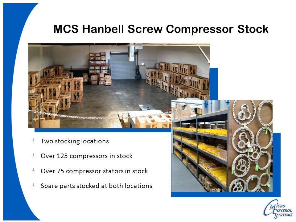 MCS Hanbell Screw Compressor Stock