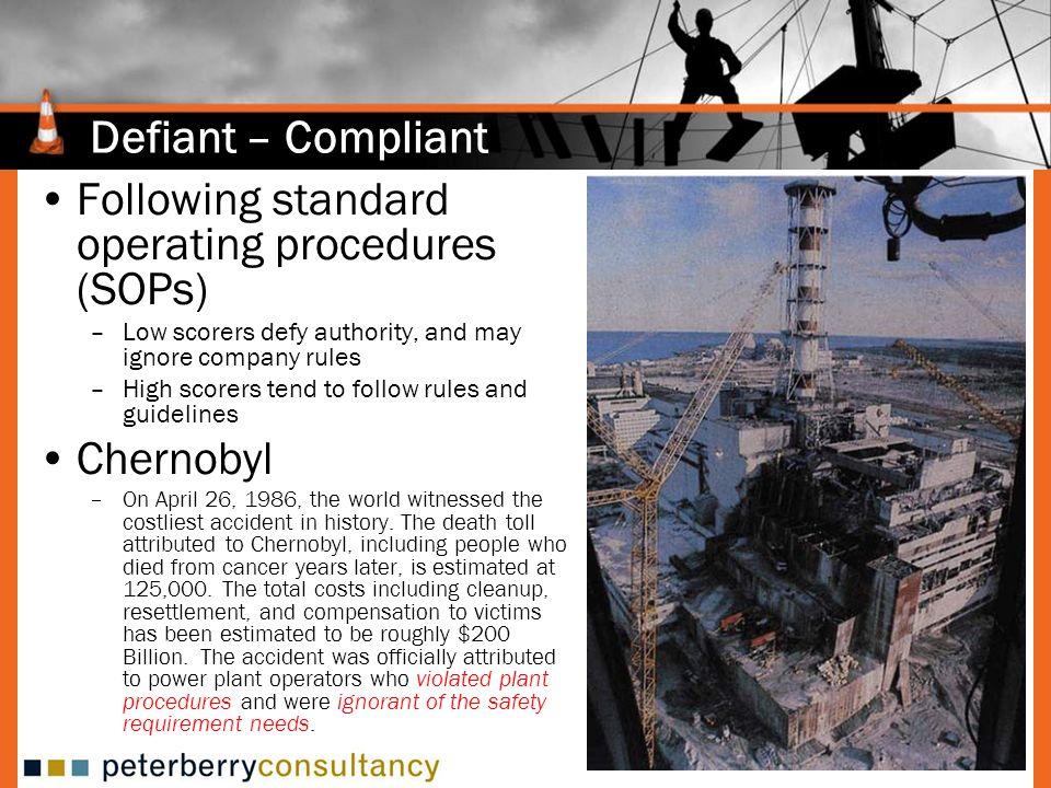 Following standard operating procedures (SOPs)