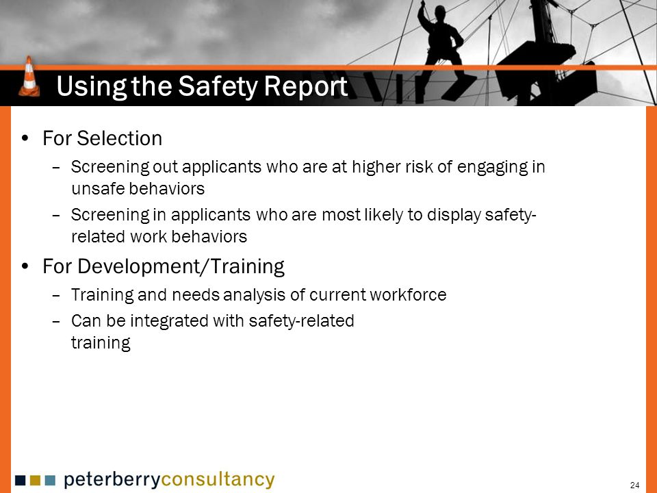 Using the Safety Report