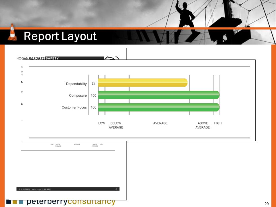 Report Layout Defines three general employability scales.