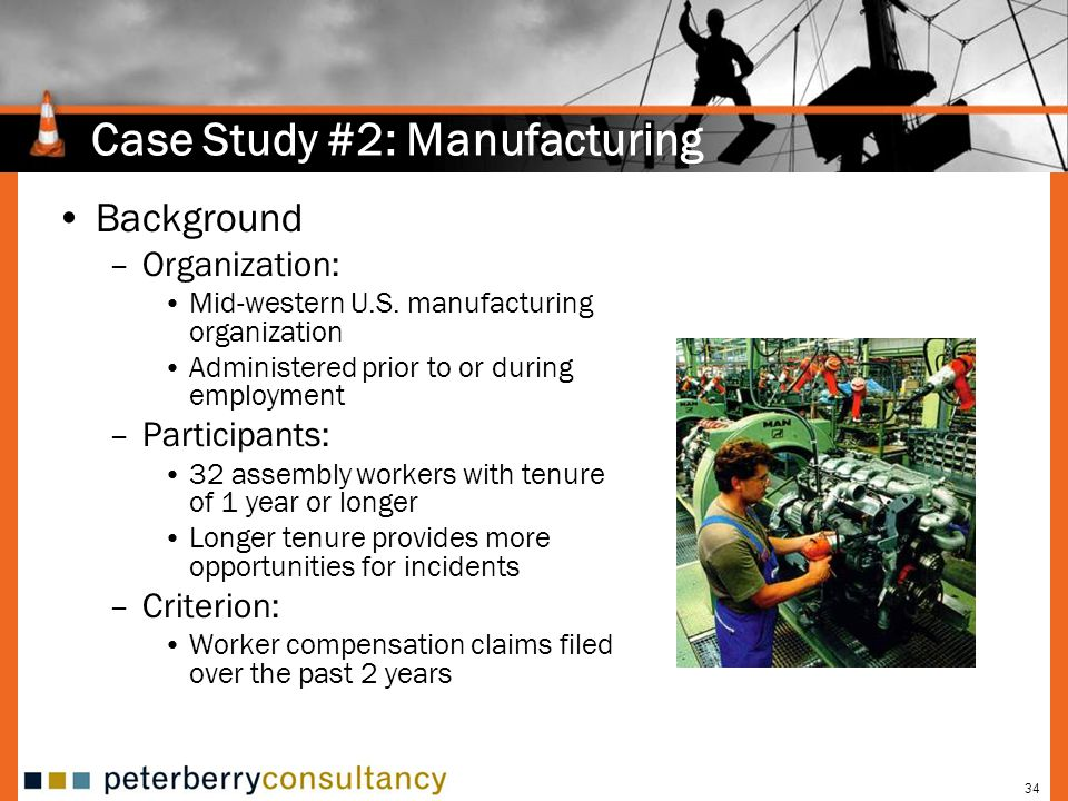 Case Study #2: Manufacturing