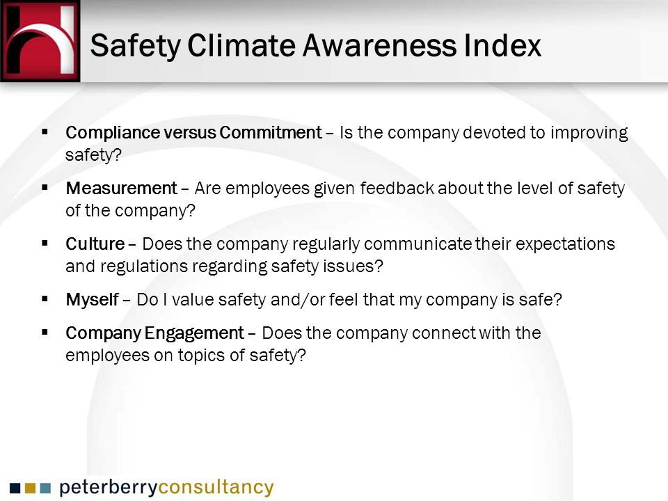 Safety Climate Awareness Index