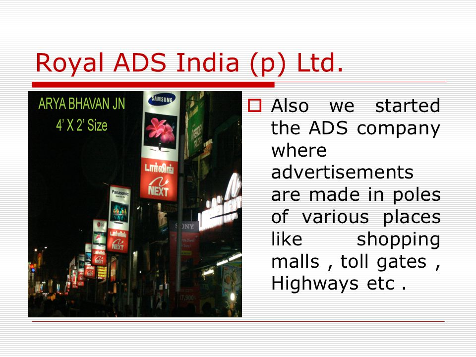 Royal ADS India (p) Ltd.