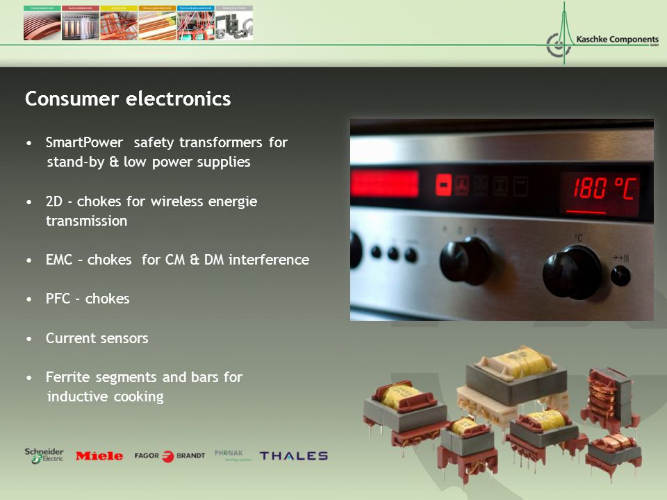 Consumer electronics SmartPower safety transformers for