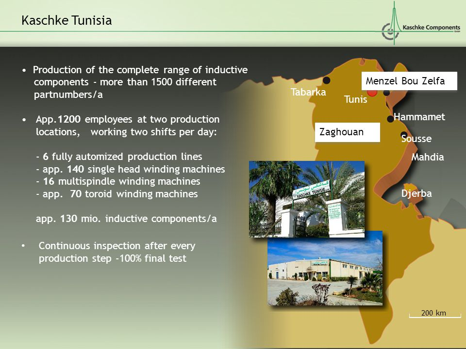 Kaschke Tunisia • Production of the complete range of inductive