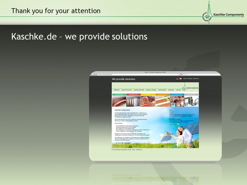 Kaschke.de – we provide solutions