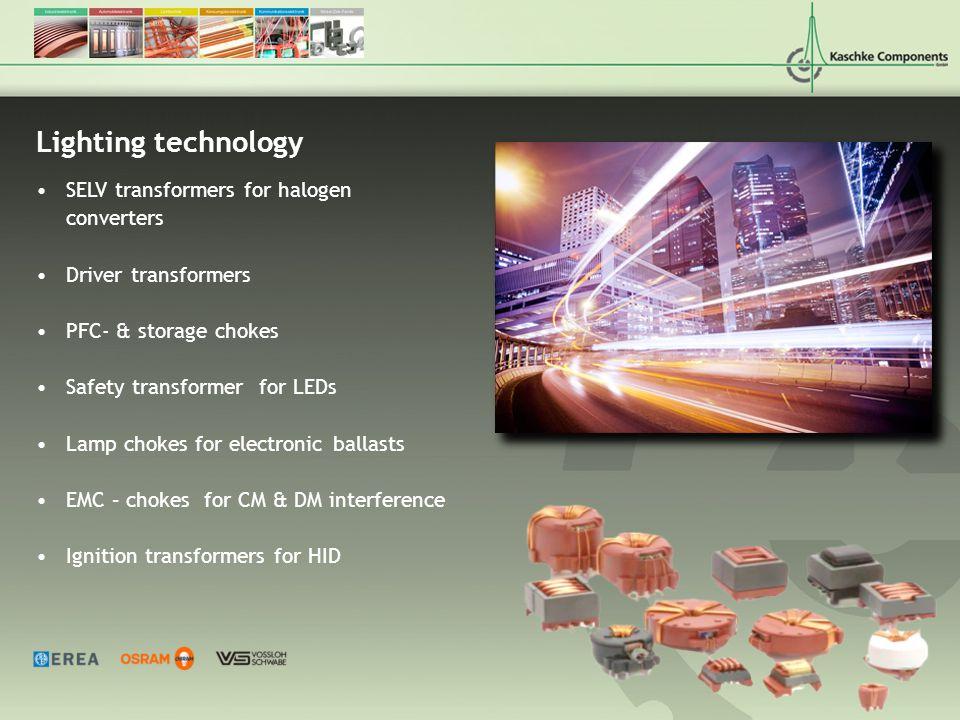 Lighting technology SELV transformers for halogen converters