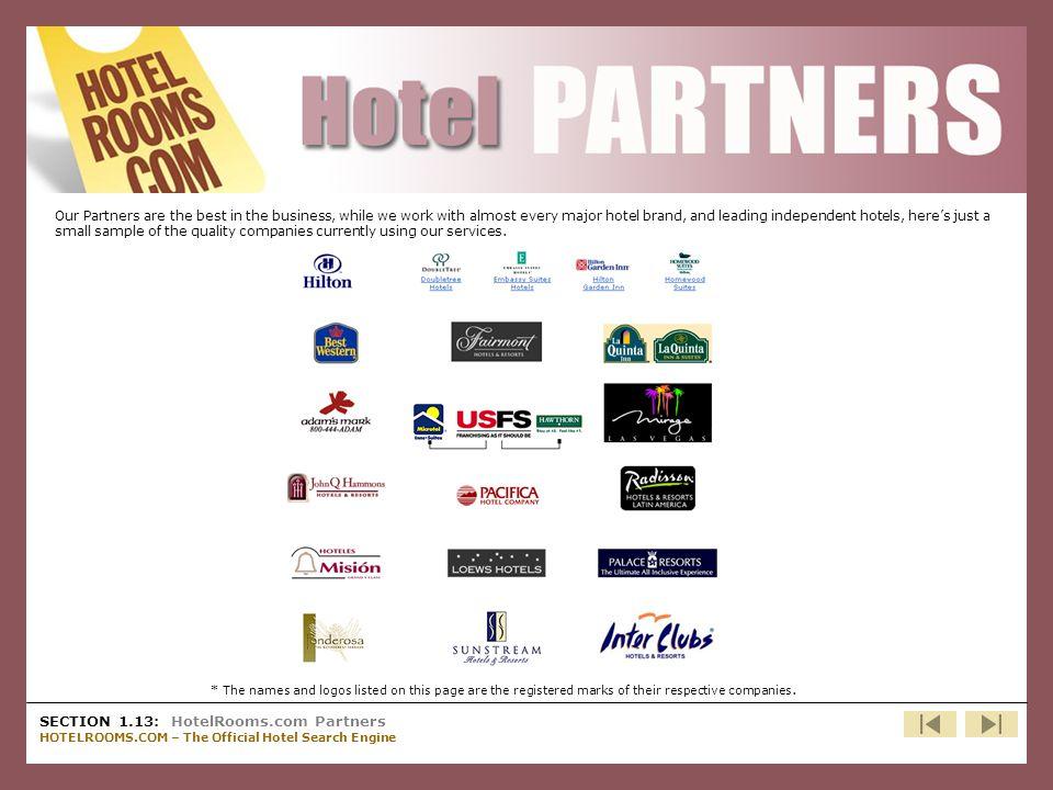 HotelRooms.com Partners