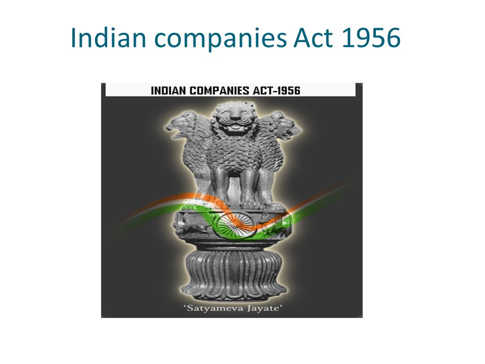 Indian companies Act 1956 2
