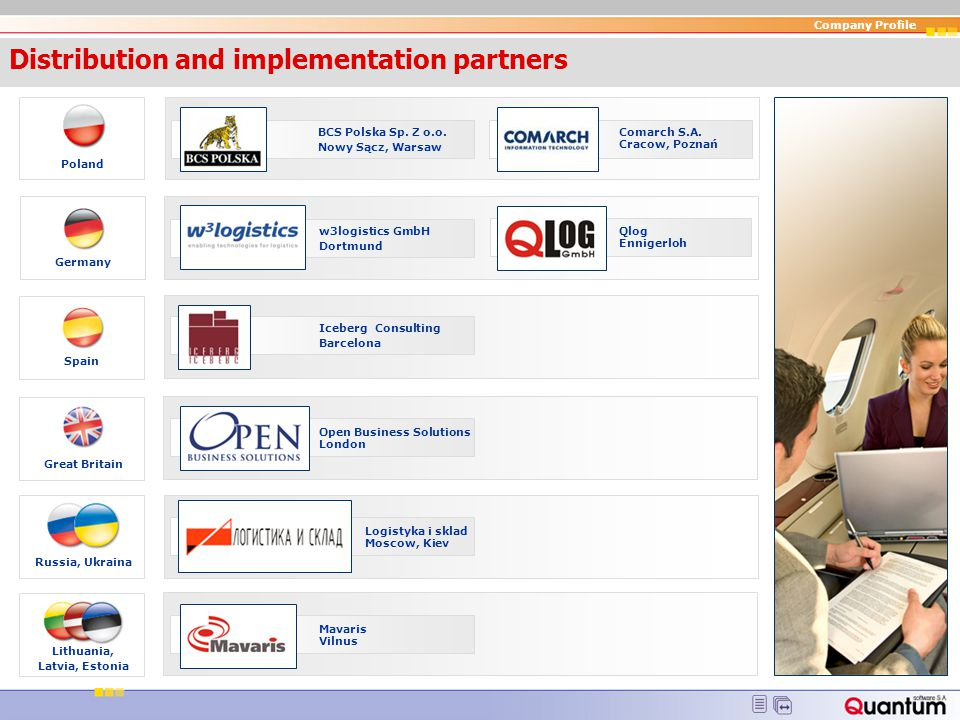 Distribution and implementation partners