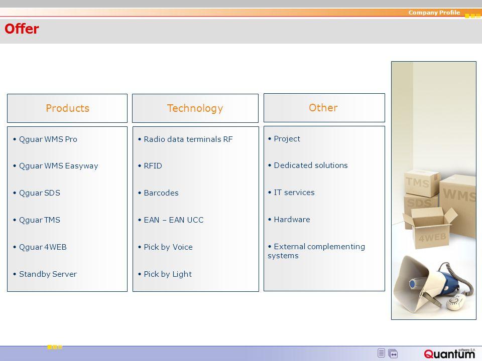 Offer Products Technology Other Qguar WMS Pro Qguar WMS Easyway