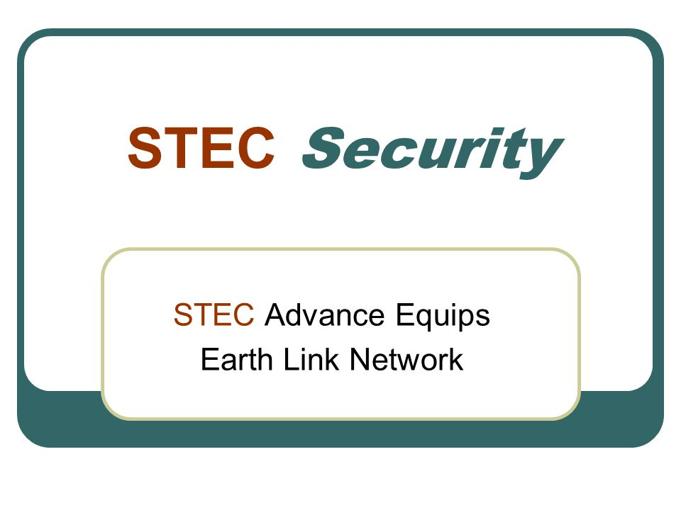 STEC Advance Equips Earth Link Network