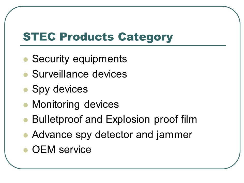 STEC Products Category