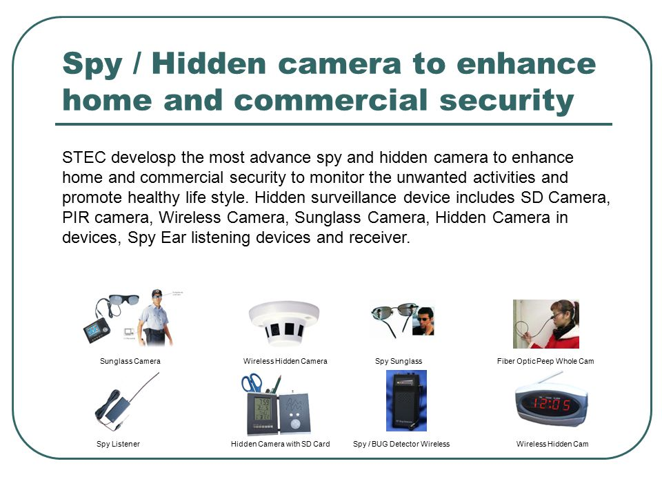 Spy / Hidden camera to enhance home and commercial security