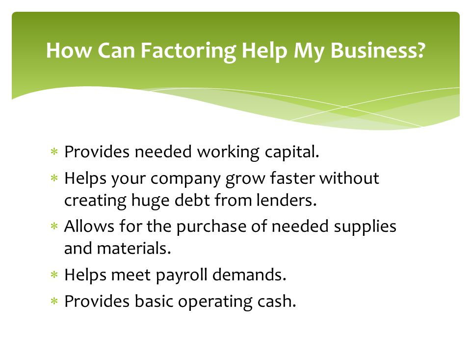 How Can Factoring Help My Business