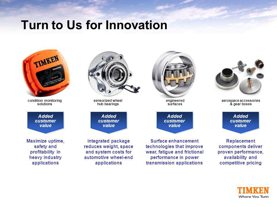 Turn to Us for Innovation