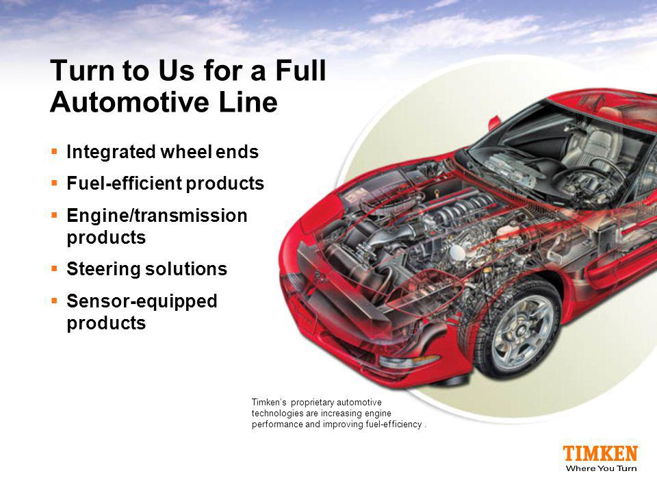 Turn to Us for a Full Automotive Line
