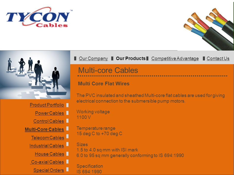 Multi-core Cables Multi Core Flat Wires