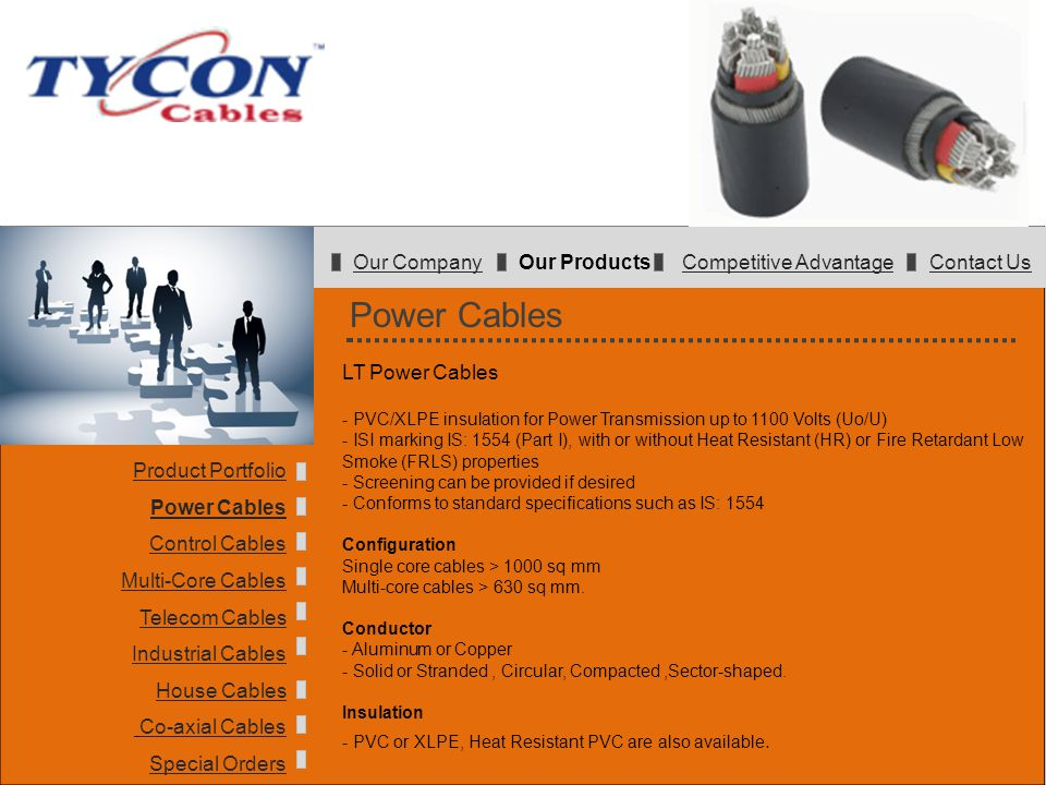 Power Cables Our Company Our Products Competitive Advantage Contact Us