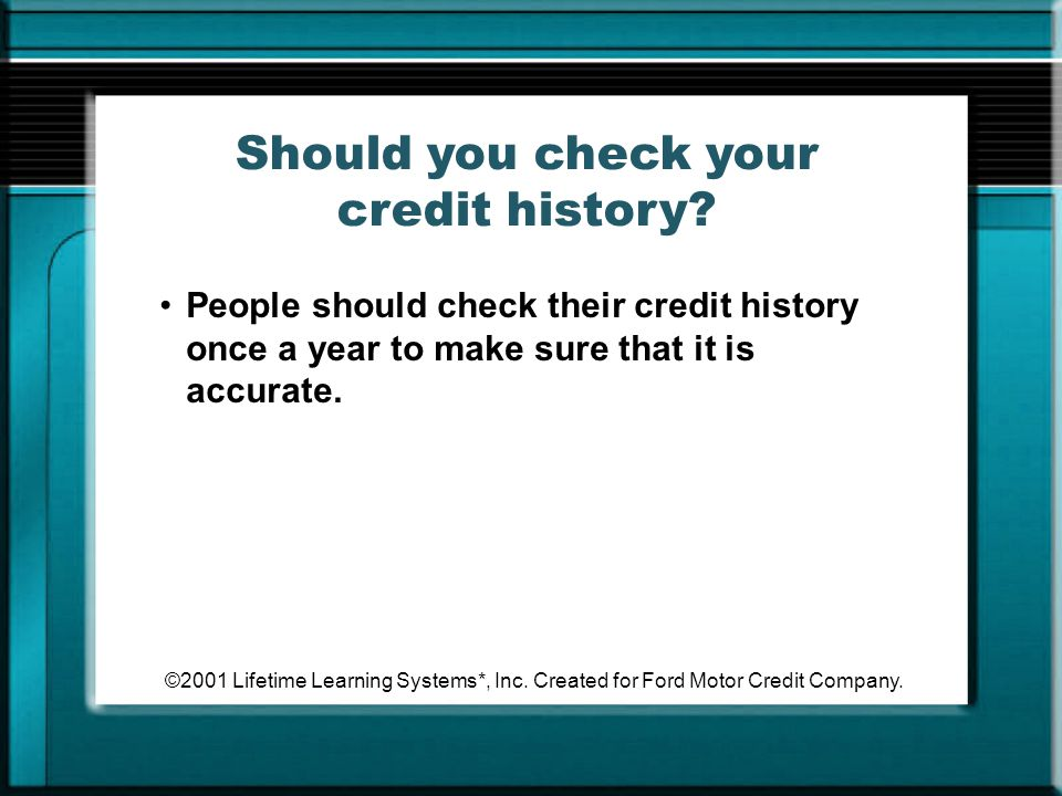 Should you check your credit history