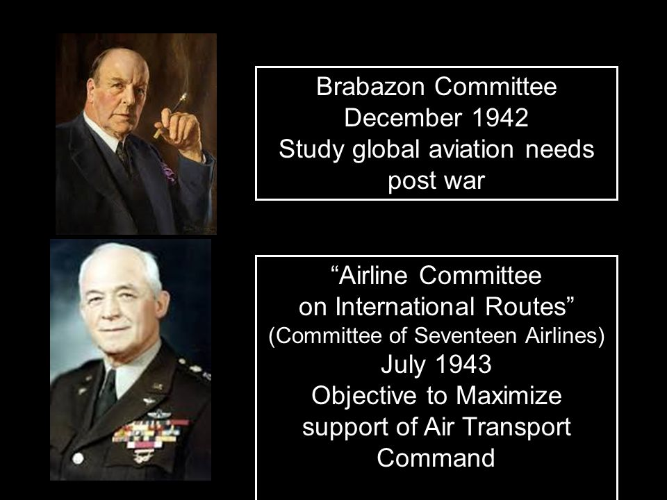 Brabazon Committee December 1942 Study global aviation needs post war