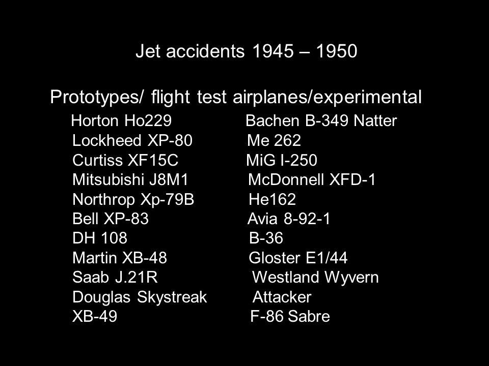 Prototypes/ flight test airplanes/experimental