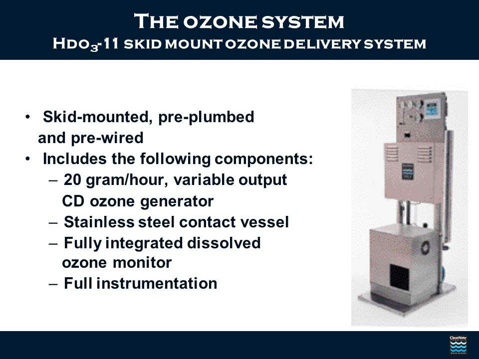 Hdo3-11 skid mount ozone delivery system