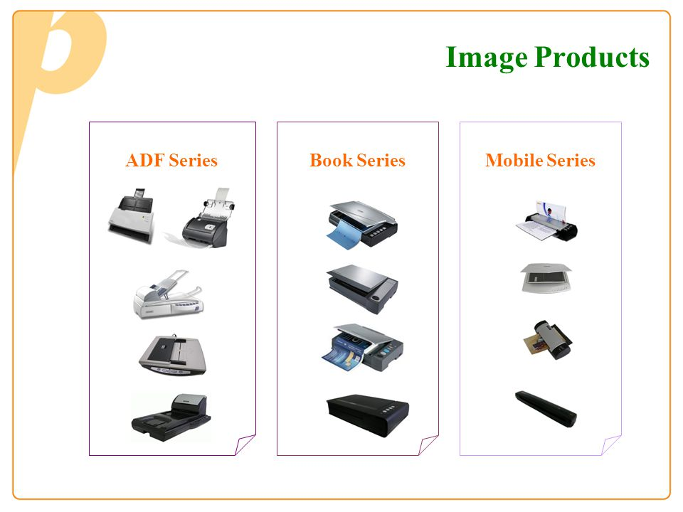Image Products ADF Series Book Series Mobile Series