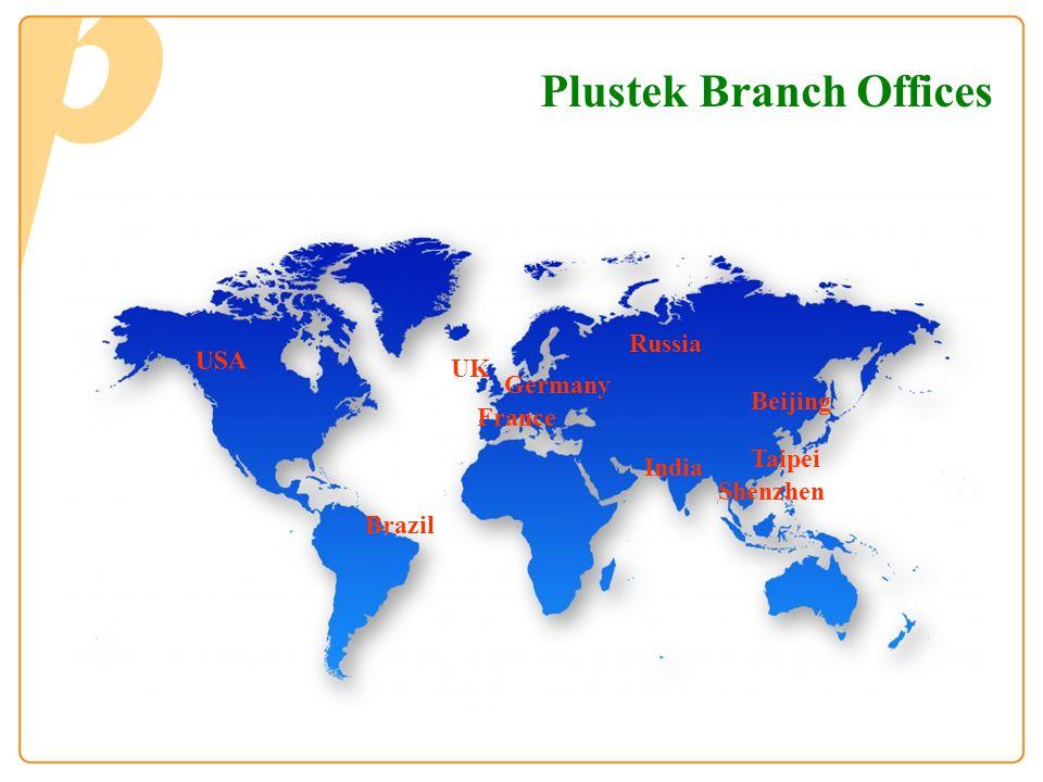 Plustek Branch Offices