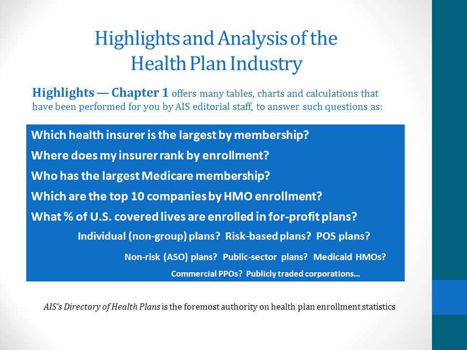 Highlights and Analysis of the Health Plan Industry