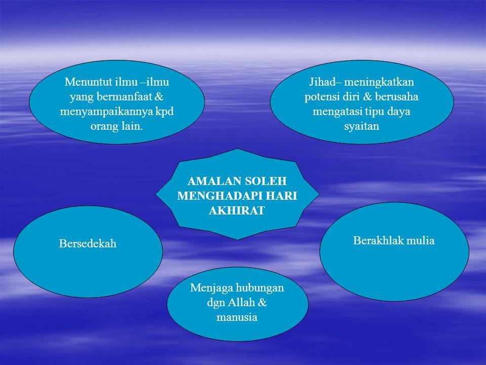 AMALAN SOLEH MENGHADAPI HARI AKHIRAT