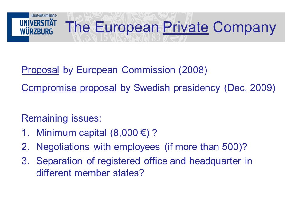 The European Private Company