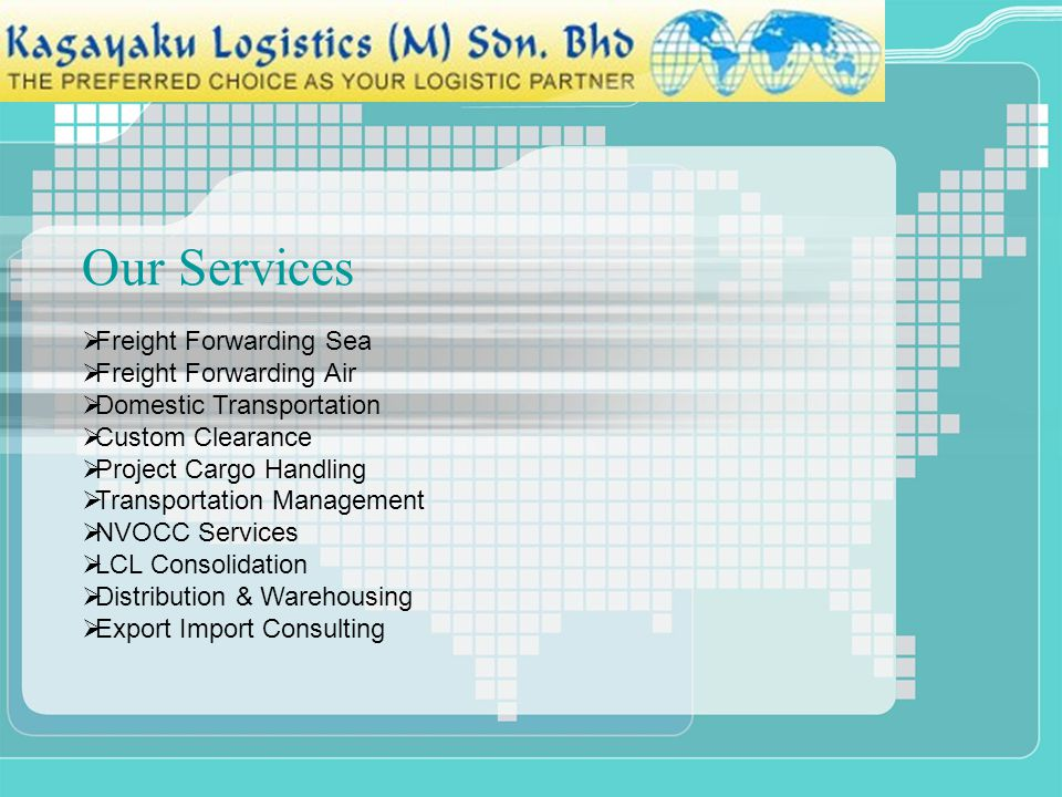 Our Services Freight Forwarding Sea Freight Forwarding Air