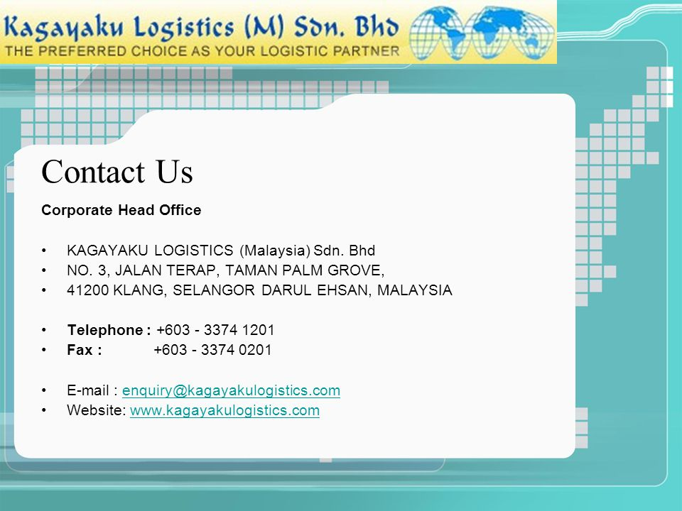 Contact Us Corporate Head Office