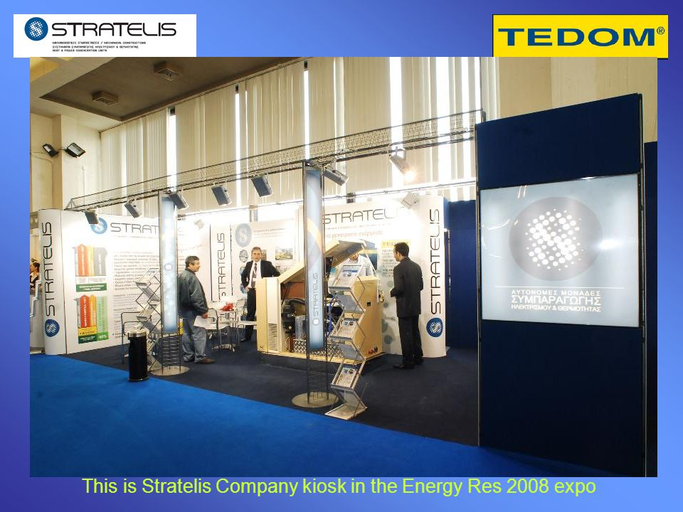 This is Stratelis Company kiosk in the Energy Res 2008 expo