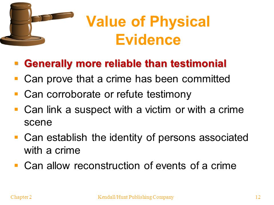 Classification of Physical Evidence by Nature