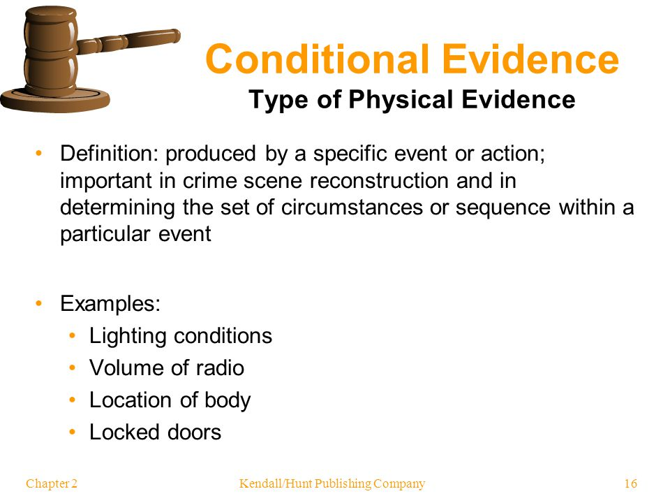 Associative Evidence Type of Physical Evidence