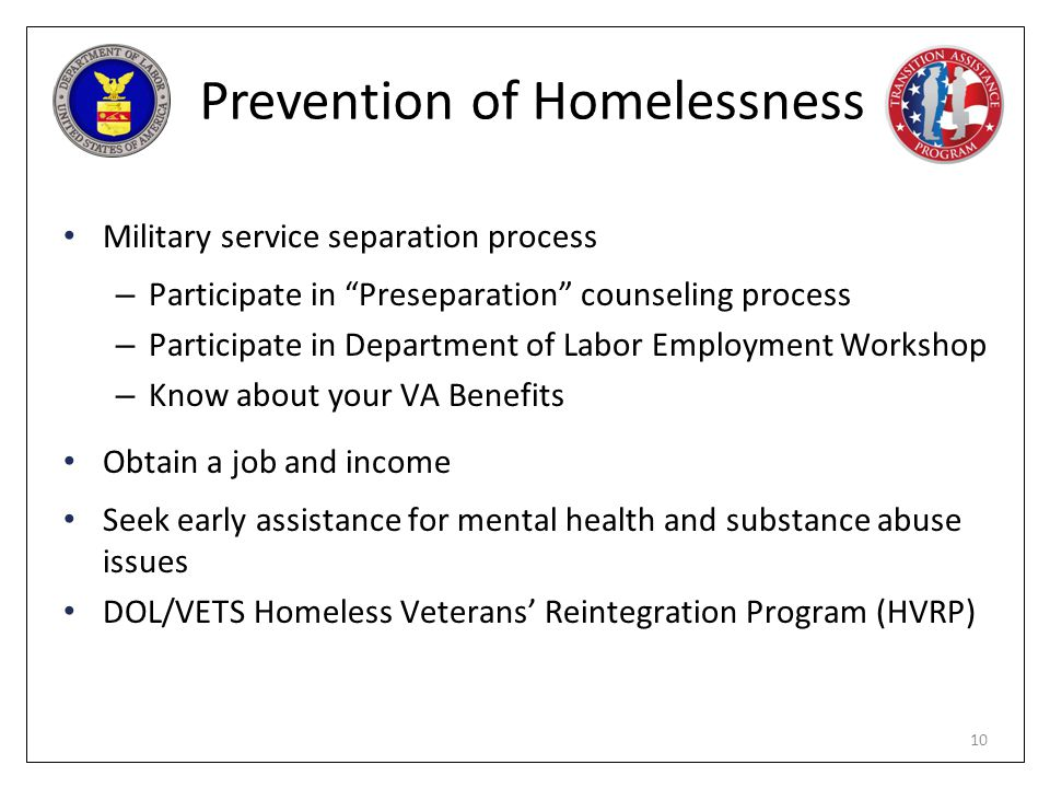 Prevention of Homelessness