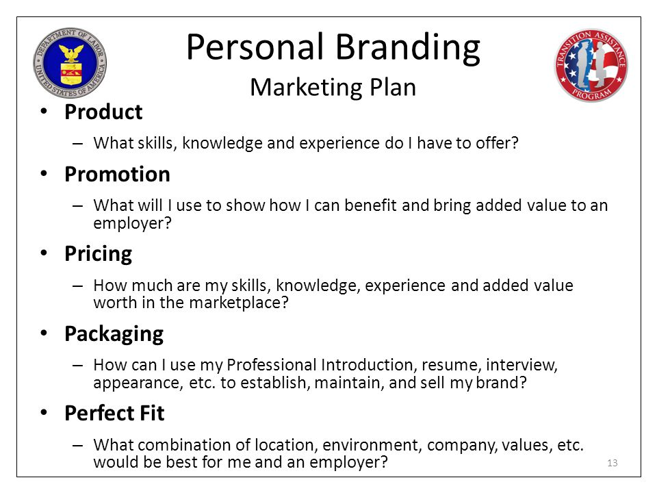 Personal Branding Marketing Plan