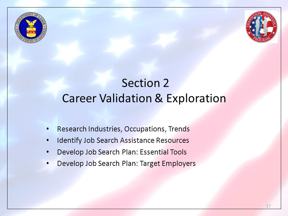 Section 2 Career Validation & Exploration