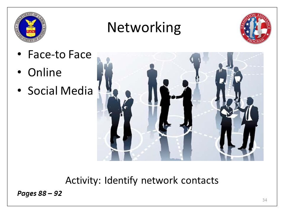 Activity: Identify network contacts