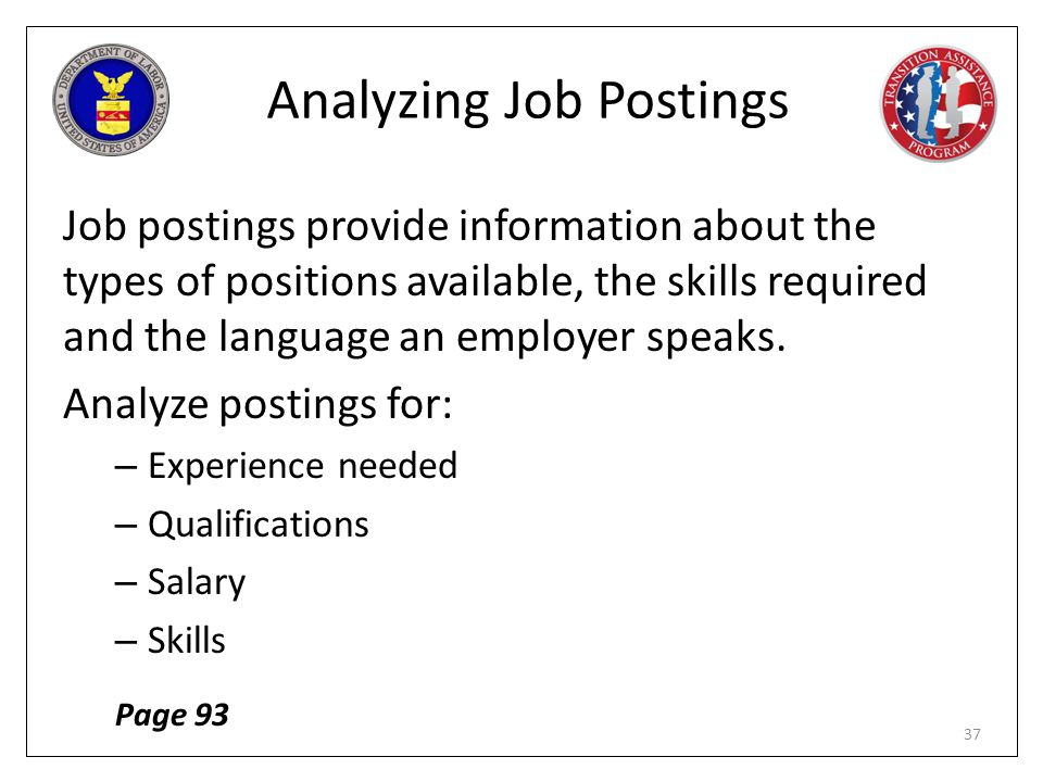 Analyzing Job Postings