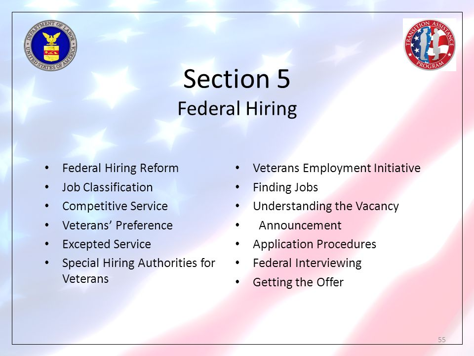 Section 5 Federal Hiring