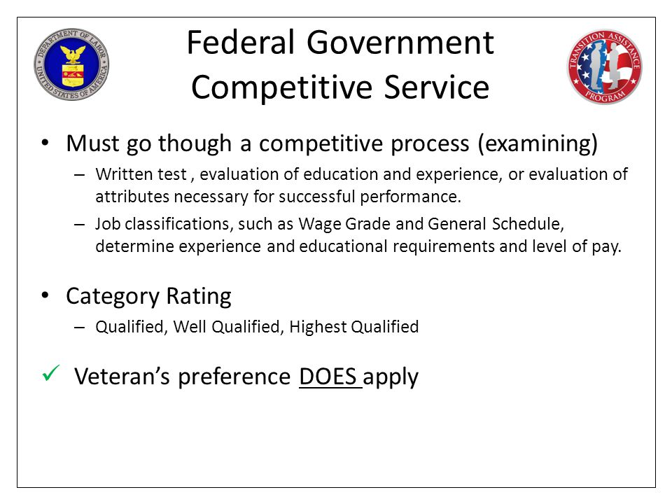 Federal Government Competitive Service