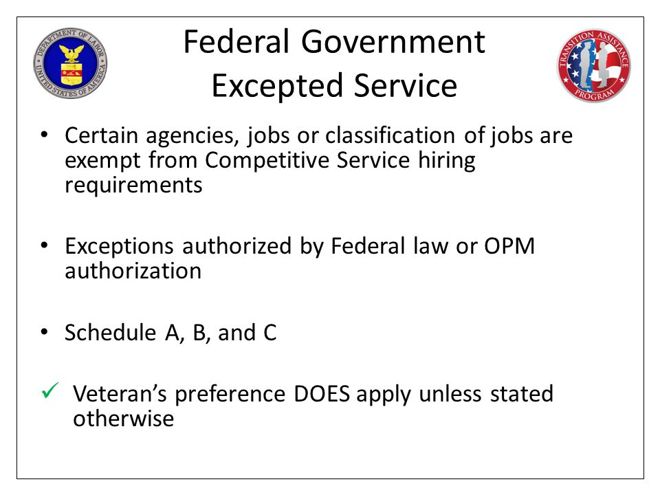 Federal Government Excepted Service