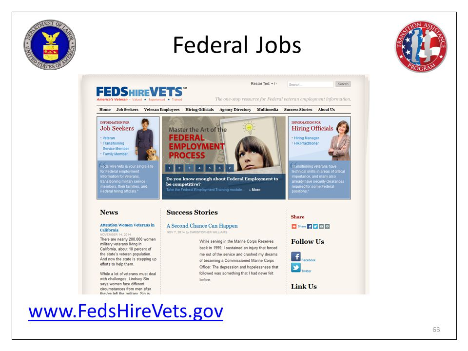Federal Jobs www.FedsHireVets.gov PG page 171
