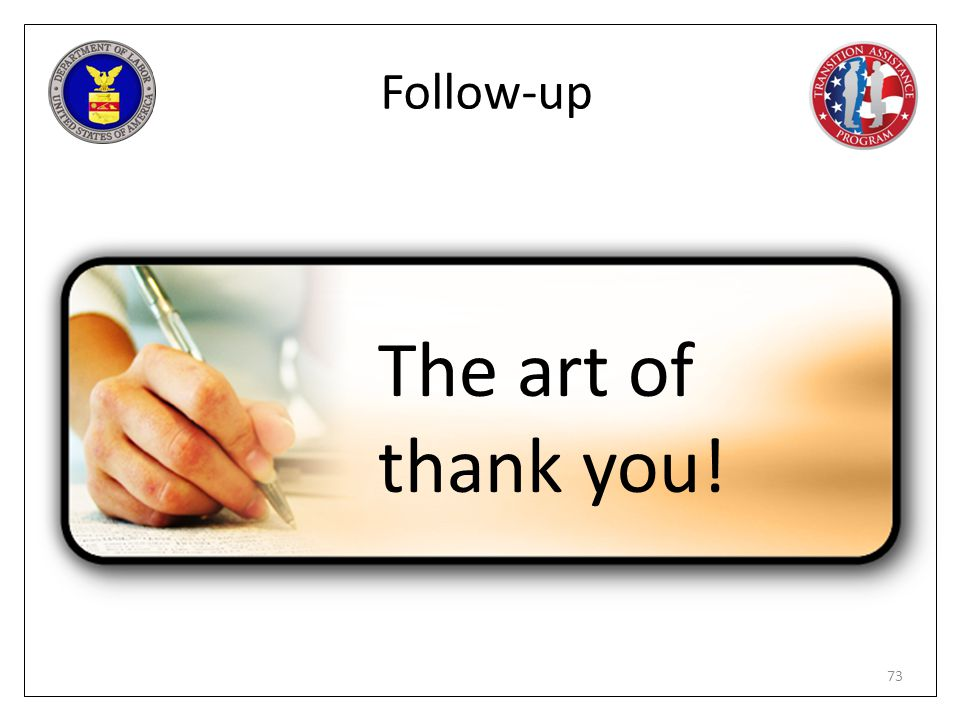 The art of thank you! Follow-up PG pages 213 – 215