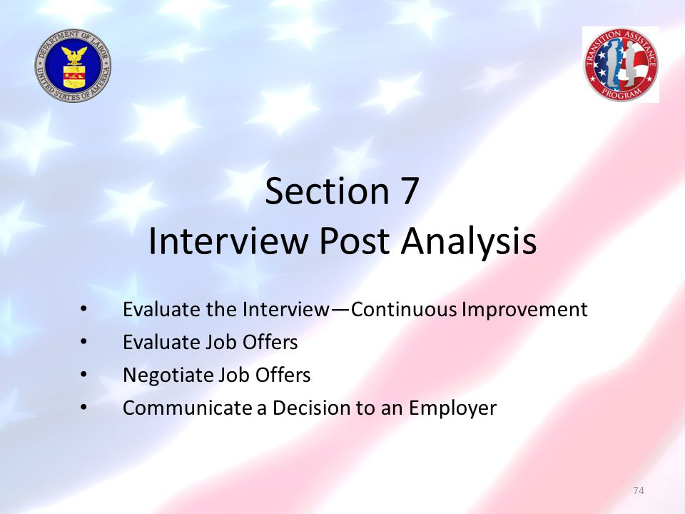 Section 7 Interview Post Analysis