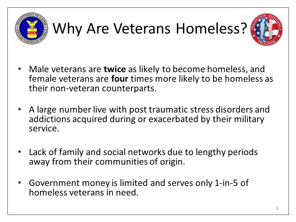 Why Are Veterans Homeless